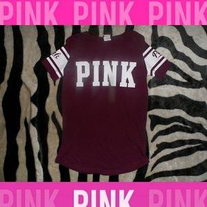 Victorias Secret PINK Burgandy jersey T-Shirt